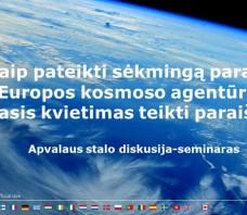 Kaip pateikti sėkmingą paraišką Europos kosmoso agentūrai