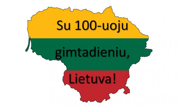Sveikiname Lietuvą su gimtadieniu!