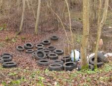 Per metus miškuose surinkta net 700 tonų senų padangų ir kitų atliekų