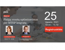 Vebinare - apie pinigų srautų optimizavimą per MTEP lengvatą